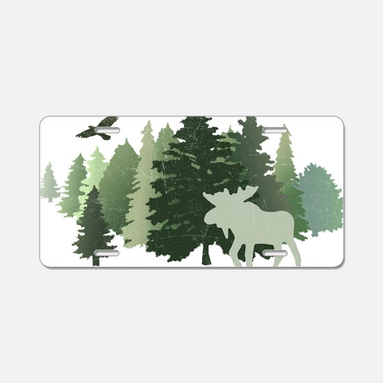 Cute Moose Aluminum License Plate