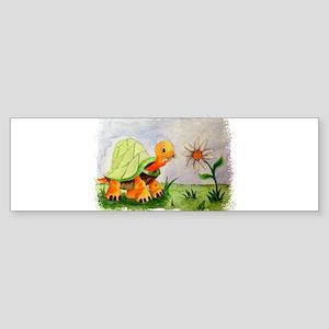 Tortoise in the garden - Watercolou Bumper Sticker