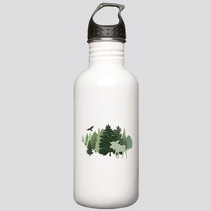 Moose in the Forest Stainless Water Bottle 1.0L