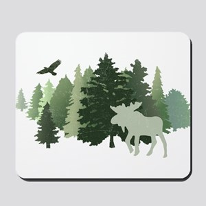 Moose in the Forest Mousepad
