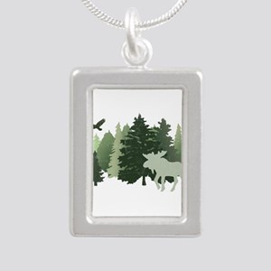 Moose in the Forest Necklaces