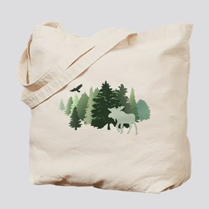 Moose in the Forest Tote Bag