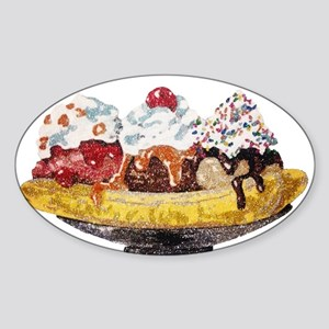 Glitter Banana Split Sticker