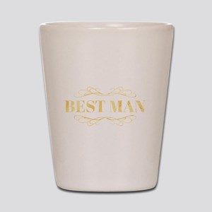 Bridal Party Best Man in Gold Shot Glass
