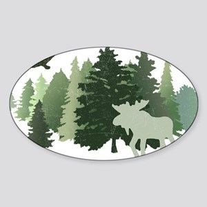 Moose in the Forest Sticker