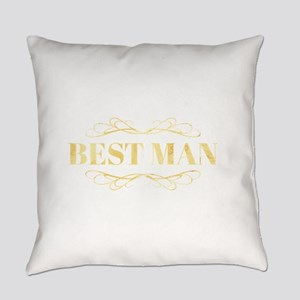 Bridal Party Best Man in Gold Everyday Pillow