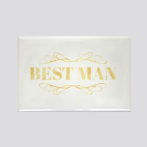 Bridal Party Best Man in Gold Magnets