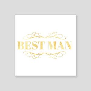 Bridal Party Best Man in Gold Sticker