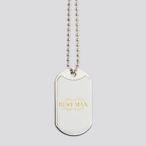 Bridal Party Best Man in Gold Dog Tags