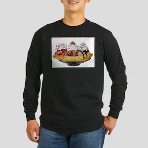 Glitter Banana Split Long Sleeve T-Shirt