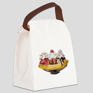 Glitter Banana Split Canvas Lunch Bag