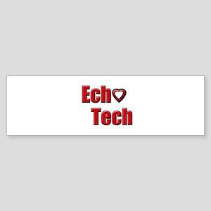 Ech(Heart) Red White Sticker (Bumper)