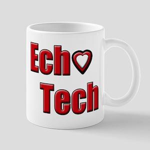 Ech(heart) Red White Mug Mugs