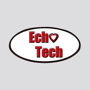 Ech(Heart) Red White Patch