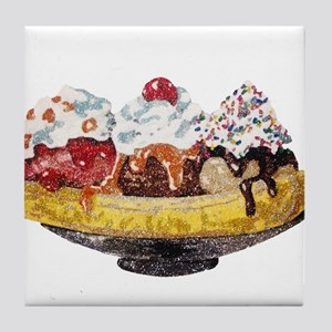 Glitter Banana Split Tile Coaster