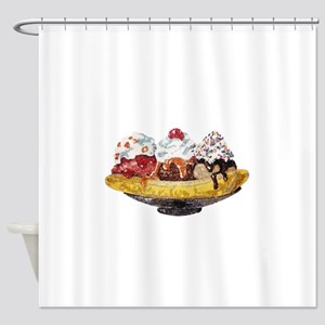 Glitter Banana Split Shower Curtain