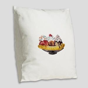 Glitter Banana Split Burlap Throw Pillow