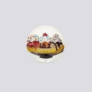 Glitter Banana Split Mini Button