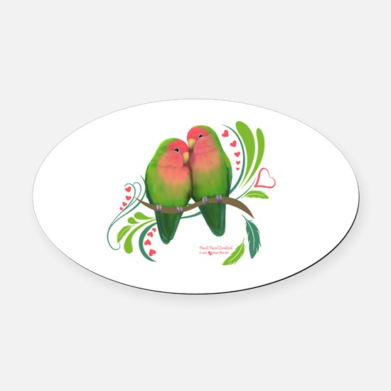 Cute Parrot Oval Car Magnet