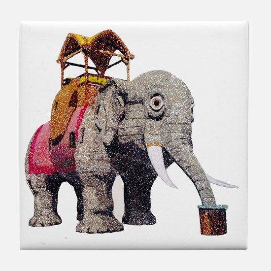 Unique Elephant beach Tile Coaster