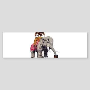 Glitter Lucy the Elephant Bumper Sticker