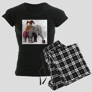 Glitter Lucy the Elephant Women's Dark Pajamas