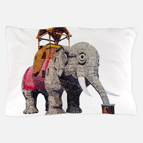 Glitter Lucy the Elephant Pillow Case
