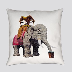Glitter Lucy the Elephant Everyday Pillow