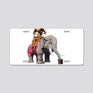 Glitter Lucy the Elephant Aluminum License Plate
