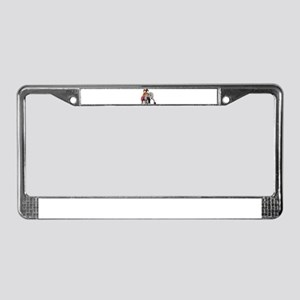 Glitter Lucy the Elephant License Plate Frame
