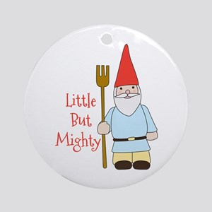 Little Mighty Gnome Round Ornament