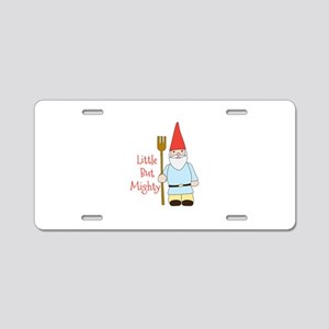 Little Mighty Gnome Aluminum License Plate