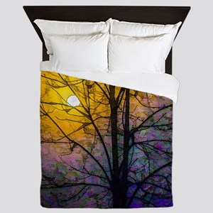 Foggy Sunset Queen Duvet