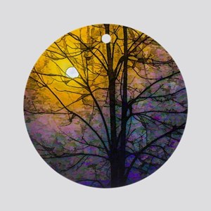 Foggy Sunset Round Ornament
