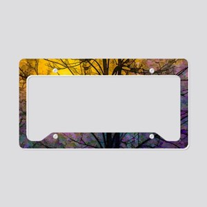 Foggy Sunset License Plate Holder