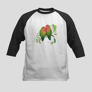 Peach Faced Lovebirds Baseball Jersey