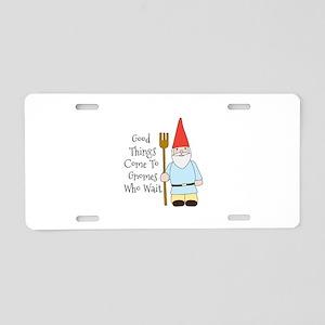 Gnome Saying Aluminum License Plate