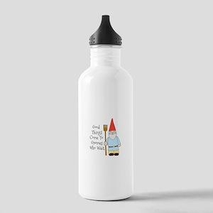 Gnome Saying Water Bottle