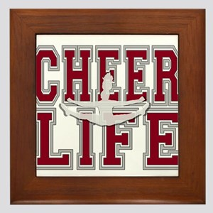 Red Cheerleader Framed Tile