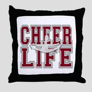 Red Cheerleader Throw Pillow