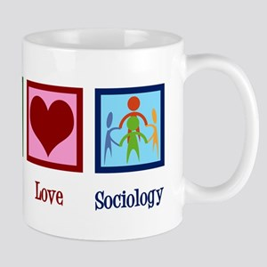Peace Love Sociology 11 oz Ceramic Mug