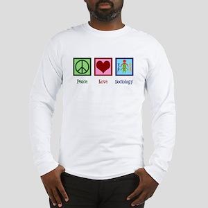 Peace Love Sociology Long Sleeve T-Shirt