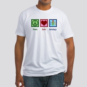 Peace Love Sociology Fitted T-Shirt