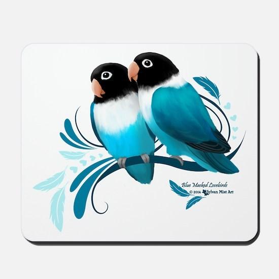 Blue Masked Lovebirds Mousepad