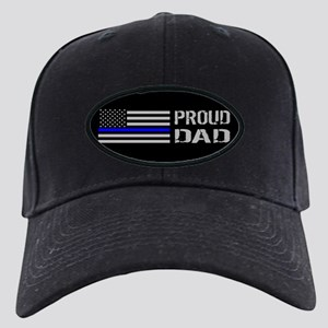 Police: Proud Dad Black Cap with Patch