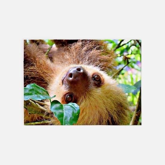 awesome Sloth 5'x7'Area Rug