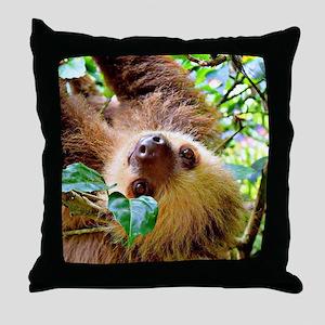awesome Sloth Throw Pillow