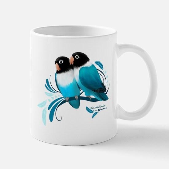 Blue Masked Lovebirds Mugs