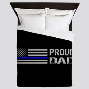Police: Proud Dad Queen Duvet
