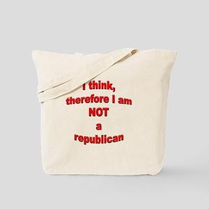 Not a Republican Tote Bag